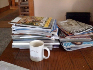 My magazine pile